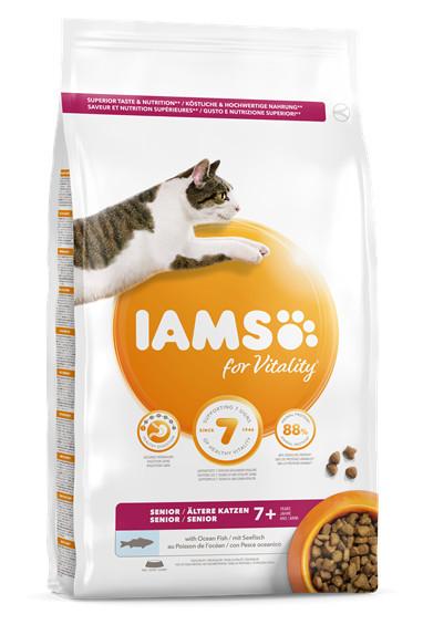 Mancare pisici IAMS Vitality Senior cu peşte oceanic
