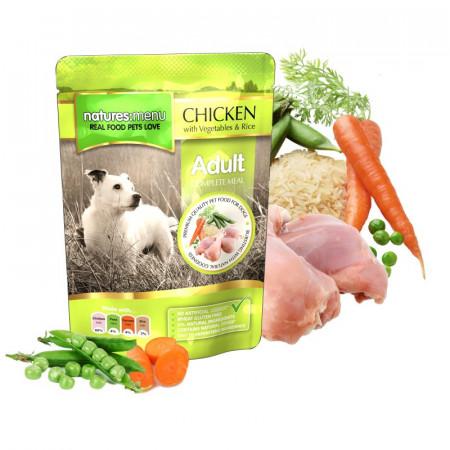 NATURES MENU DOG ADULT CHICKEN (300 gr.)