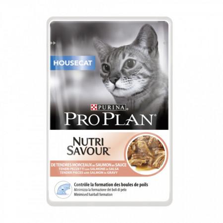 Purina Pro Plan Housecat NUTRISAVOUR cu Somon 85 gr