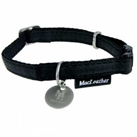 Zgarda reglabila neagra pentru caini Macleather 15 mm