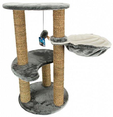 Ansamblu joaca pisici - 3 nivele cu culcus