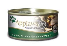 Applaws CAT hrană umedă cu fileuri de ton și alge 156 g
