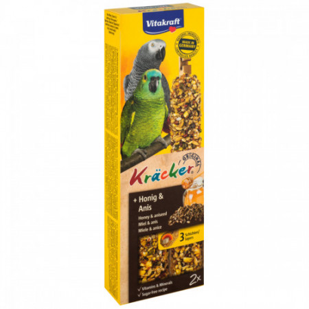 Baton pentru papagal Vitakraft Kracker cu Miere 180 g