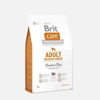 Brit Care Adult Medium breed cu miel și orez 3 kg