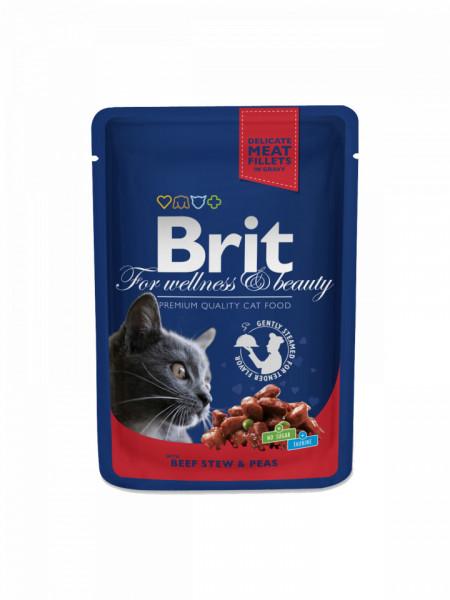 Brit Premium Cat cu carne de vita si mazare