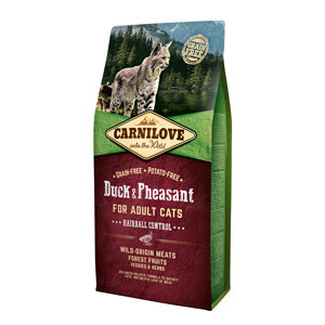 Carnilove Duck and Pheasant Cats Hairball Control 6 kg