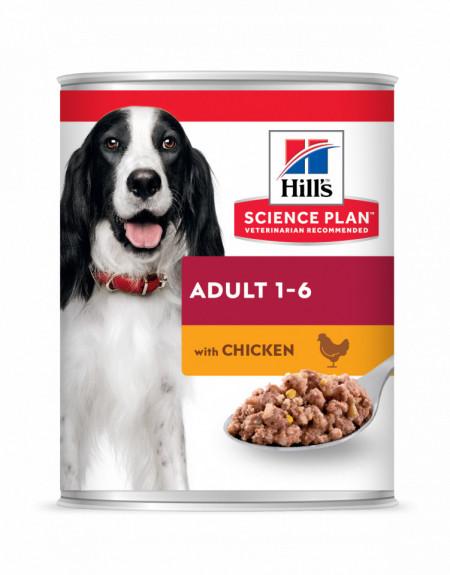HILL'S SCIENCE PLAN ADULT hrană pentru câini cu pui 370 g (conservă)