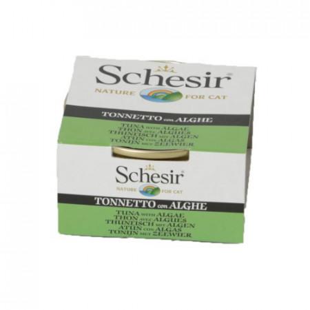 Hrana umeda pisici Schesir ton si alge