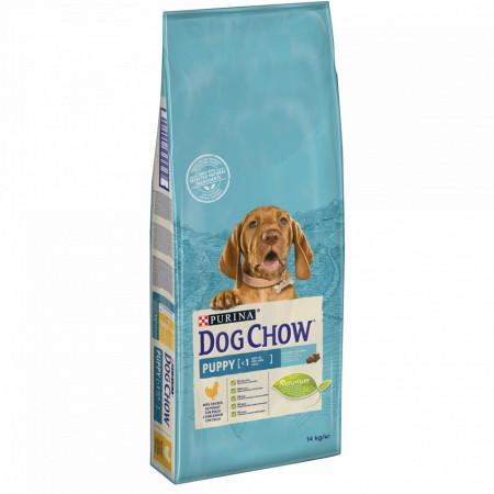 Hrana uscata DOG CHOW PUPPY pentru puii de caine de talie medie, cu Pui