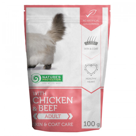 NATURES PROTECTION Cat Persian with Chicken & Beef (100g)