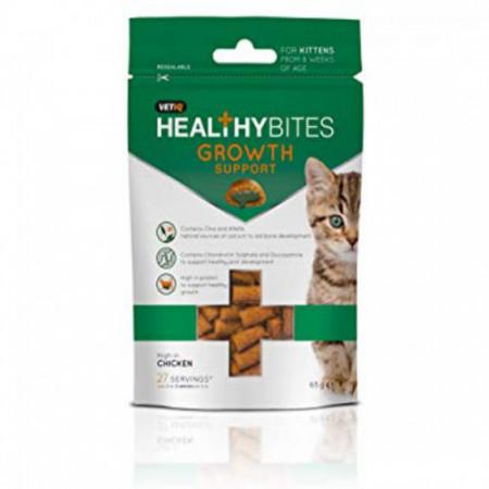 Recompensa pentru pisici VETIQ SNACK KITTEN GROWTH SUPPORT 65 gr
