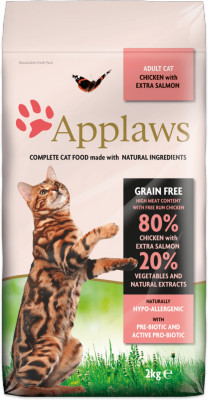 Applaws CAT hrana uscata cu pui și extra somon 2 kg