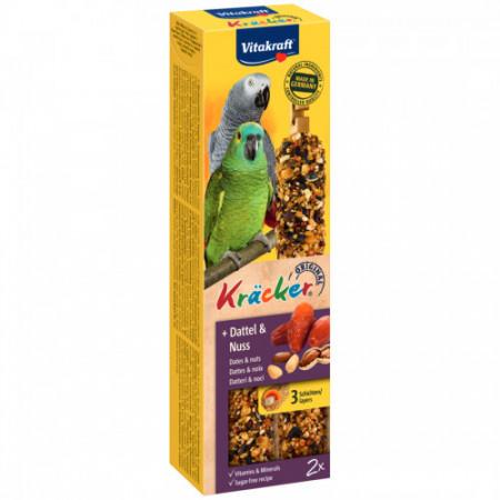 Baton pentru papagal Vitakraft Kracker Curmale & Arahide 180 g