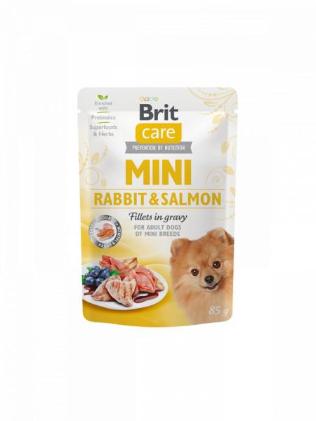 Brit Care Mini Rabbit & Salmon fillets in gravy