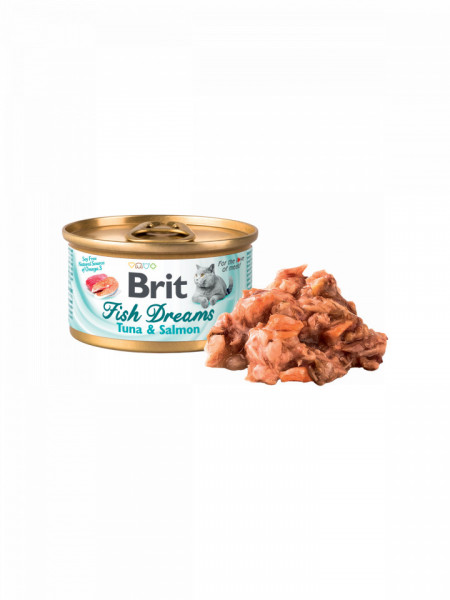 Brit Fish Dreams Conserva Cu Ton Si Somon