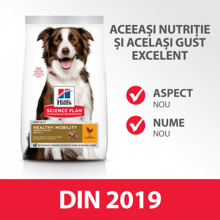 HILL'S SP Canine Adult Healthy Mobility Medium Breed cu pui 14 kg