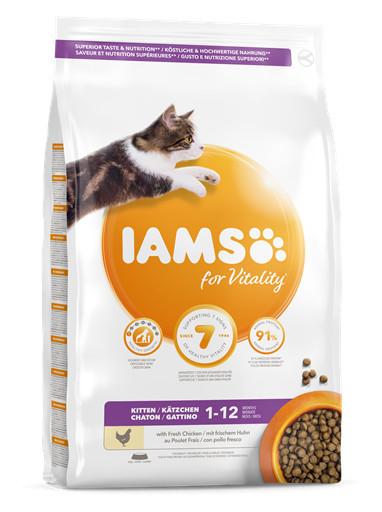 Hrană IAMS Vitality Kitten cu pui proaspăt