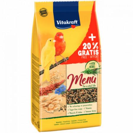 Hrana pentru canari Vitakraft Premium Menu 1kg +20% Gratis