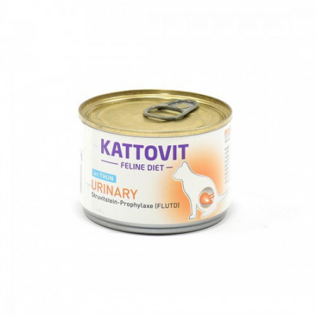 Hrana umeda pentru pisici Kattovit Urinary cu ton 175 g