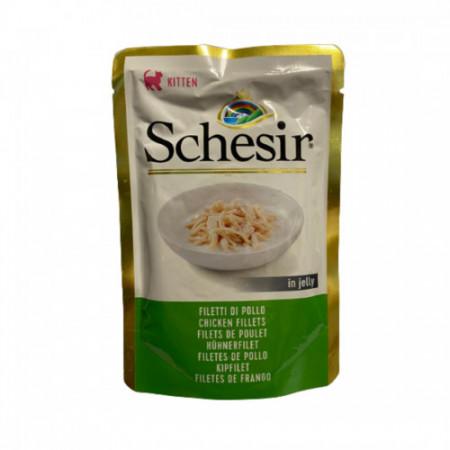 Hrana umeda pentru pisici Schesir Junior cu pui 85 g