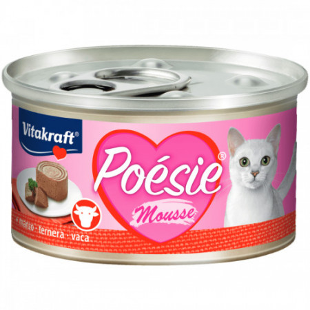 Hrana umeda pentru pisici Vitakraft Poesie Mousse cu Vita 85 g