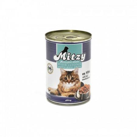 Hrana umeda pisici economica Mitzy Vita 415gr