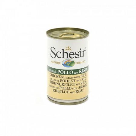 Hrana umeda pisici Schesir pui si orez