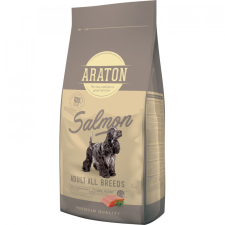 ARATON Dog Adult Salmon & Rice 15 KG
