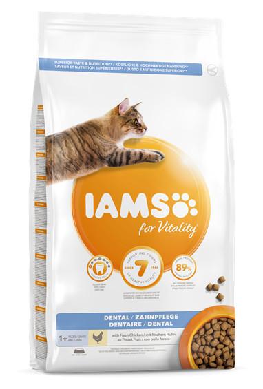 IAMS Vitality Dental pui proaspăt, mancare completa pentru pisici adulte și senioare