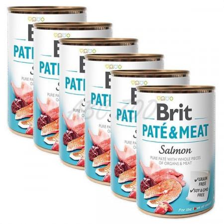 Pachet Economic Brit Pate and Meat Somon 6 x 400 gr