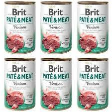 Pachet Economic Brit Pate and Meat Vânat 6 x 400 gr