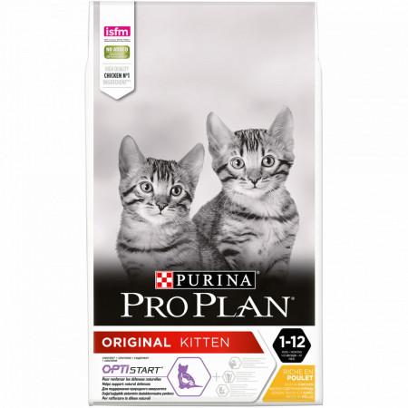 Purina Pro Plan Cat Original Kitten bogata în Pui