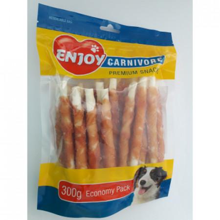 Recompense pentru caini Enjoy Carnivore Sticks cu pui 300 g