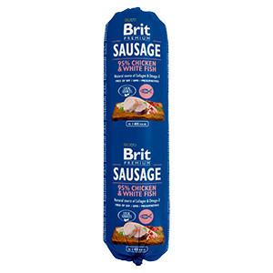 Salam Brit Premium cu Pui și Peste Alb