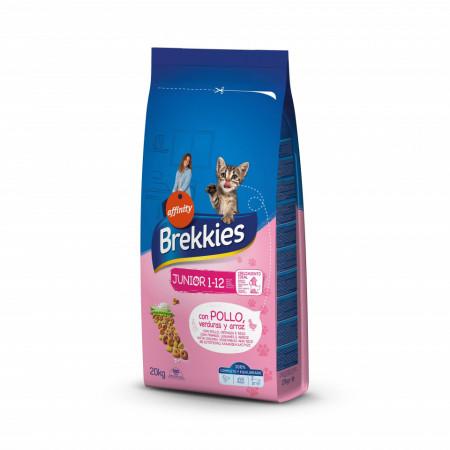 Brekkies Cat Junior cu pui, orez si legume