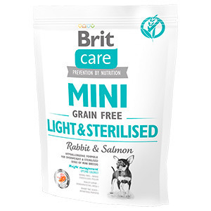 Brit Care Mini Grain Free Light & Sterilised 400 gr