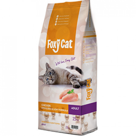Hrana pisici Foxy Cat Sterilizat pui 15 kg