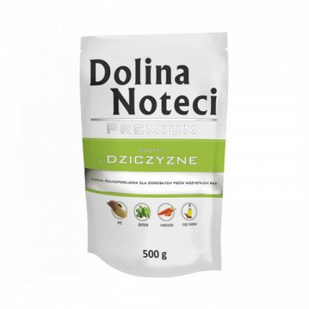 Hrana umeda pentru caini Dolina Noteci Premium cu vanat 500 g