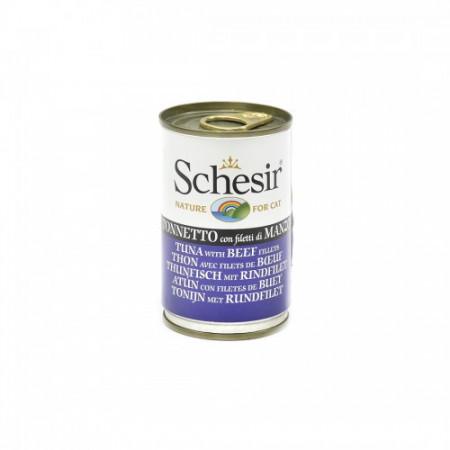 Hrana umeda pisici Schesir ton si vita file