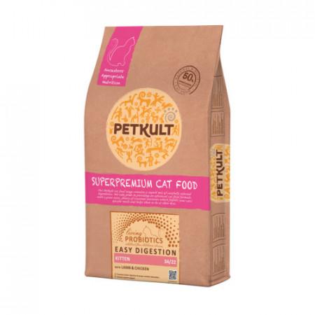 Hrana uscata pisici Petkult Probiotics Kitten miel si pui