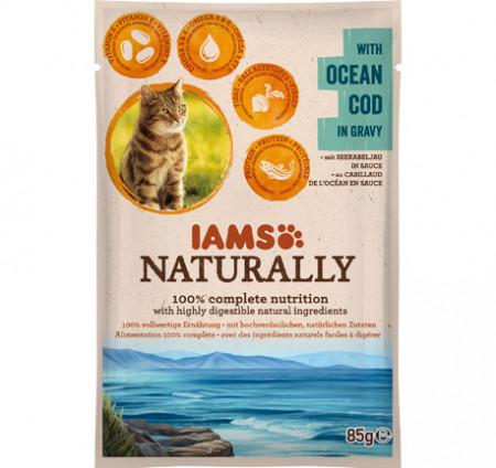 Hrana umeda pisici IAMS Naturally Adult Cat cu Cod Oceanic
