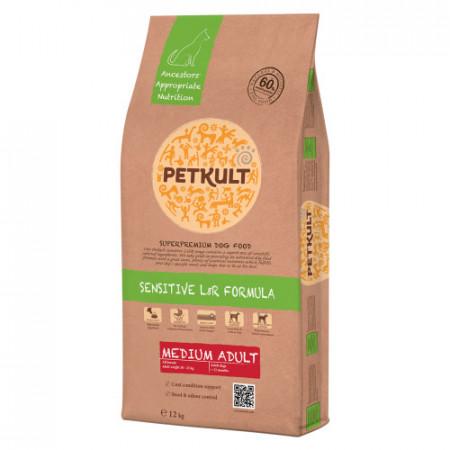 Hrana uscata caini Petkult Sensitive Medium Adult miel si orez