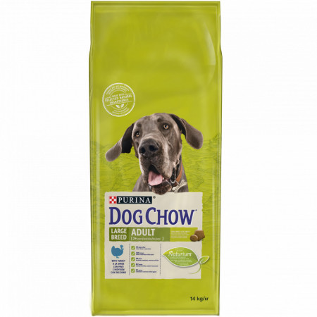 Purina Dog Chow Large Breed Adult cu carne de Curcan 14 kg