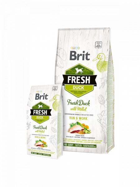Brit Fresh Duck with Millet Adult Run & Work