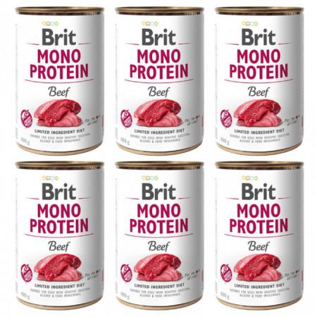 Brit Mono Protein Beef 6 x 400 gr