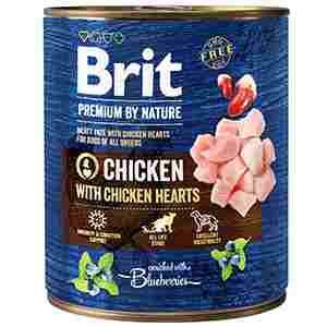 Brit Premium by Nature Chicken with Hearts 800 gr