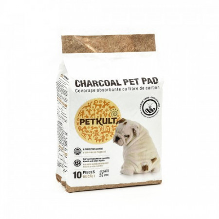 Covorase absorbante pentru caini Petkult Charcoal 60X60 cm