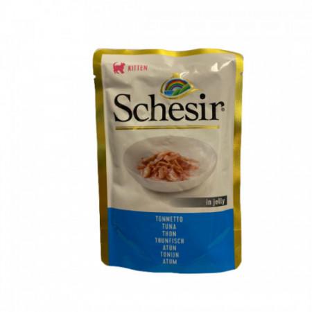 Hrana umeda pentru pisici Schesir Junior cu ton 85 g