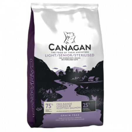 Hrana uscata pentru pisici Canagan Cat Light Senior Sterilised