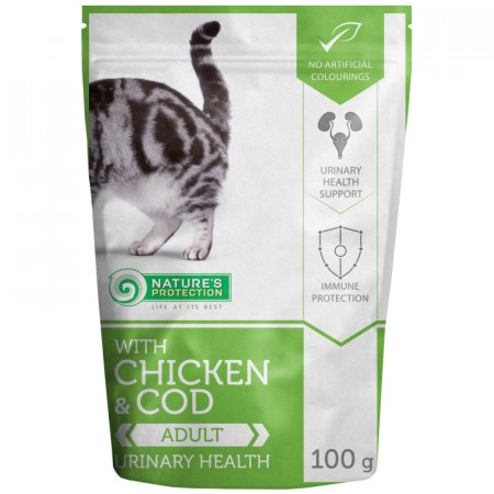 NATURES PROTECTION Cat Urinary Health with Chicken & Cod (100 g)